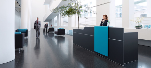 Büromöbel Empfangsbereich Düsseldorf | avb-gmbh.de