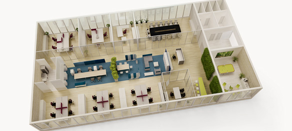3D Büroraumplaner - AVB Büroeinrichtungen Düsseldorf