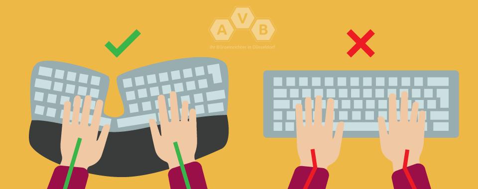 Wie tippt man ergonomisch auf der Tastatur?