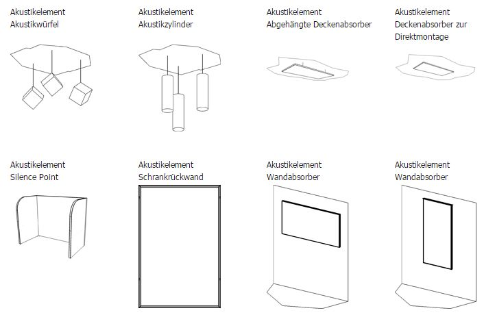Akustikelemente für das Büro
